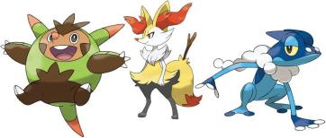 Kalos Starters Evolved