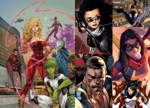 #4 - Teen Titans and Hawkeye, Ultimate Spider-Man, Nomad, Ms. Marvel, and X-23