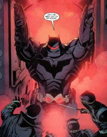 """I AM IRON BAT"" from Batman #8"