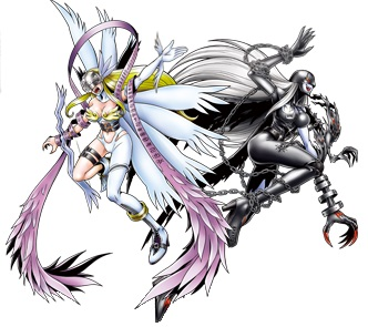 #1 - Angewomon and LadyDevimon