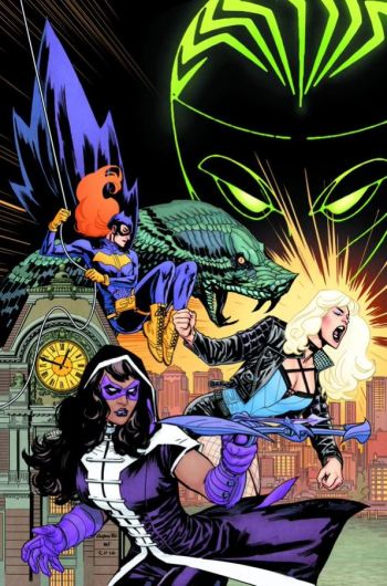 I've never been so excited and so confused for a book. So someone is posing as Oracle? Does that mean Oracle is canon again? Also, that's clearly New 52 Helena as Huntress. So does that mean she really WAS Huntress before having to fake her death?