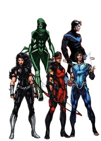 Whoa, whoa, whoa, lemme see if I understand this correctly: A Titans book where there's only ONE person in red??? :P