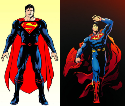 Oh, and while we're on the subject, don't mind a similar choice to adapt the Man of Steel costume, but I prefer the design with the yellow belt and red boots. Just feels like it balances the colours out better.