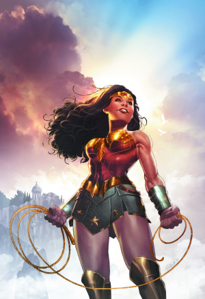 Also, I don't mind that Wonder Woman's costume post-Rebirth is basically her movie costume with a somewhat brighter colour palette. At least she's back in gold.
