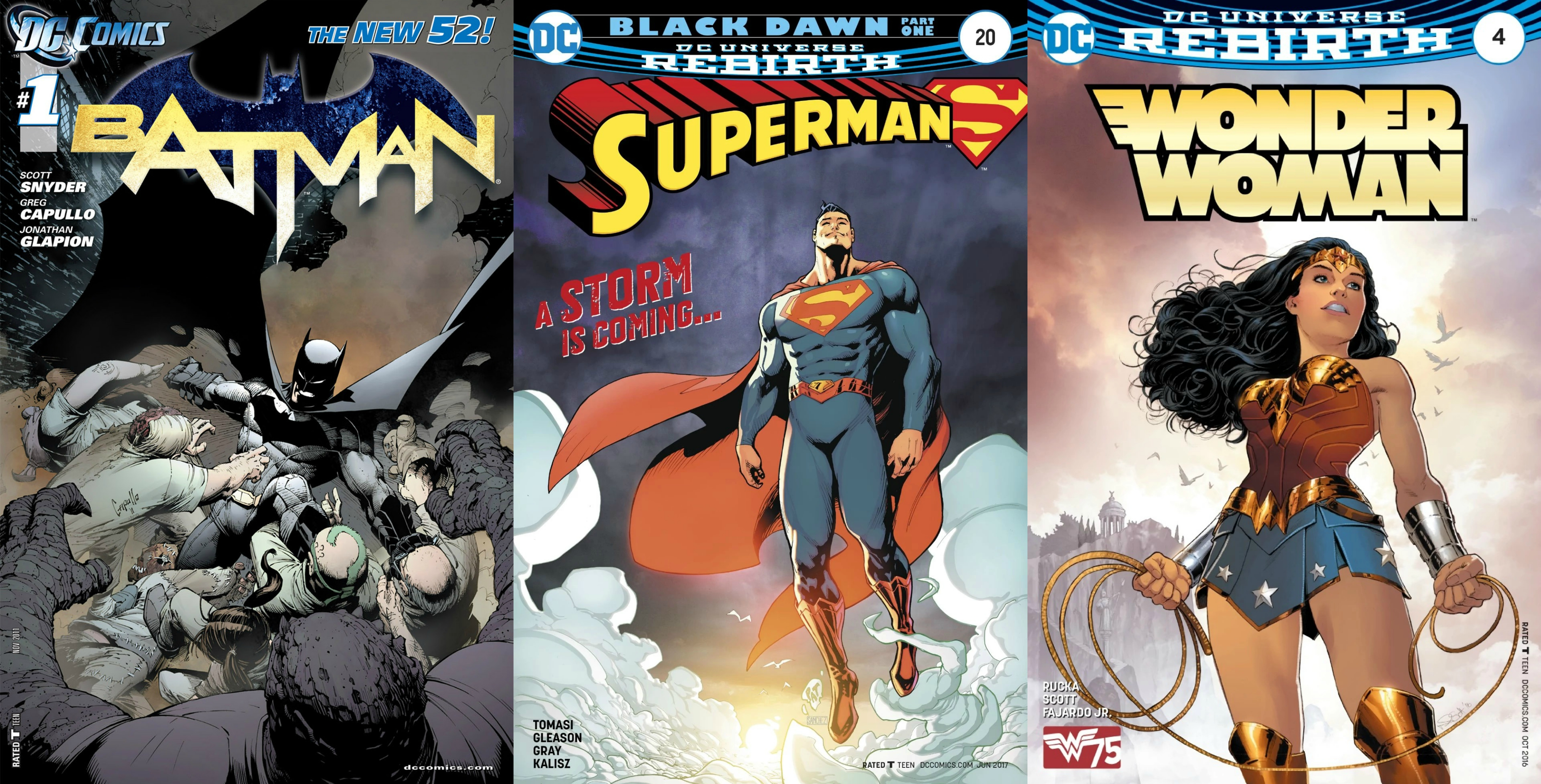 superman batman and wonder woman covers